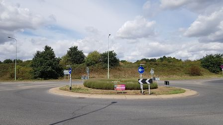 The existing roundabout on Sproughton Road will not be used to access the services, with a T junctio