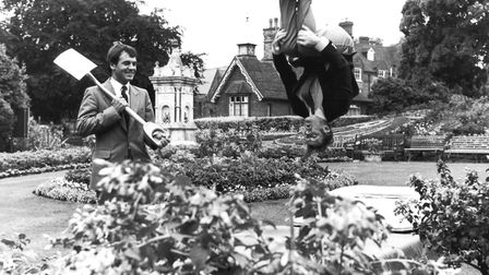 Randall Bevan is head over heels by the town's success in Britain in Bloom 1983, watched by Rodney C
