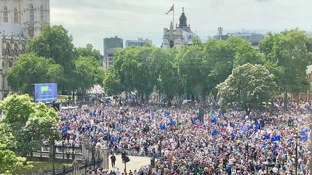 People's Vote March Crowds. Photograph: Andrew Adonis.