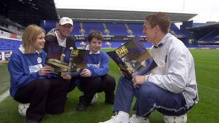 Richard Naylor, right, and Alun Armstrong at The Big Read at Ipswich Town Football Club with Thurles