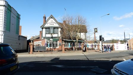 Police are at the scene of a crash close to the Mulberry Tree Pub Picture: ARCHANT
