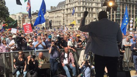 David Lammy at the People's Vote March. Photograph: Tim Walker.
