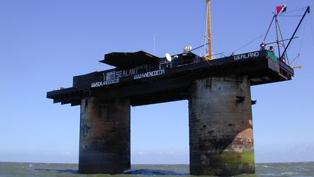 The micronation of Sealand off the coast of Felixstowe Picture: RYAN LACKEY