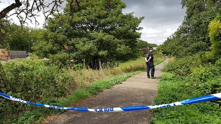 The site where the body was discovered at the River Gipping near London Road, Ipswich Picture: RACHE