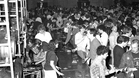 The Corn Exchange hosting a beer festival in its main hall Picture: RICHARD SNASDELL