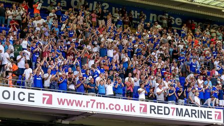 Ipswich Town fans applaud at the end of Town' game with Villa recently. Picture: STEVE WALLER
