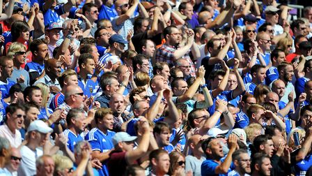 Ipswich Town fans show their support in the stands Picture: PA ARCHIVE