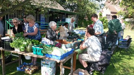 The stalls will be bursting with delicious home-grown produce at the community market next week Pic