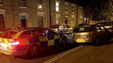 The uninsured car seized in Ipswich. Picture: NORFOLK AND SUFFOLKS ROADS AND ARMED POLICING TEAM