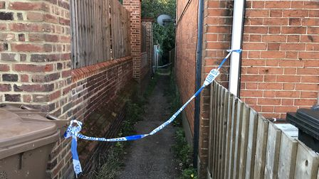 The police cordon at the scene of the stabbing on Cromer Road Picture: AMY GIBBONS