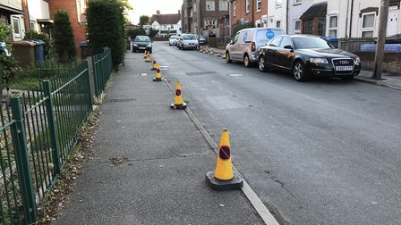 Police precautions are in place near to the site of the stabbing on Cromer Road Picture: AMY GIBBONS