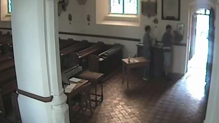 The thieves were captured on the church's CCTV system Picture: ST MARY'S AT THE ELM CHURCH