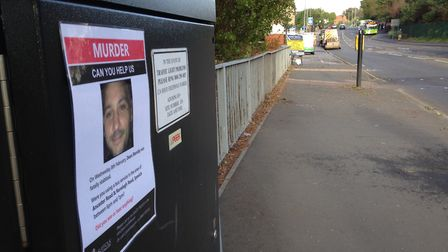 Posters asking for the public's help during the Dean Stansby murder investigation.