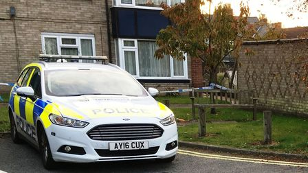 Police were investigating at Derby Close in Ipswich on Saturday morning. Picture: PAUL GEATER