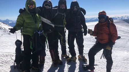 He reached the summit with four other climbers and two guides Picture: PAUL ETHERIDGE