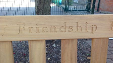 The new bench was dedicated by Peter Gardiner Picture: MEG APPLEFORD