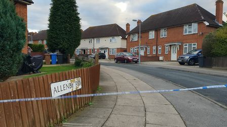 Police taped off Allenby Road in Ipswich Picture: ARCHANT