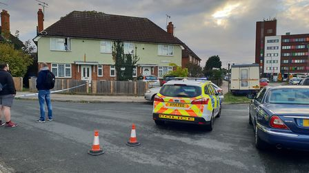 Emergency services at the scene of the raids on Allenby Road Picture: ARCHANT