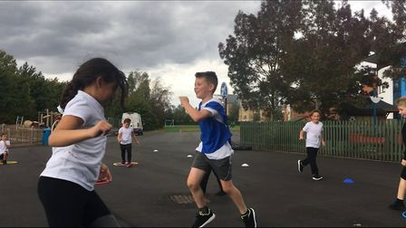 PE teacher Mr Newson wants the childrent to pick up the skills they will need to enjoy playing any s