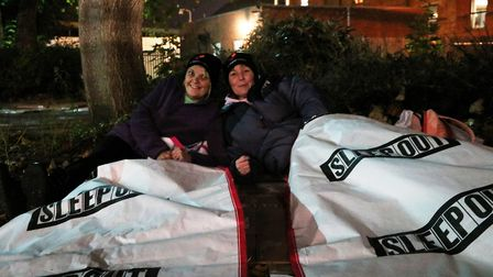 Taking part in the Ipswich sleep out in 2017, to raise money to help young people who are homeless o