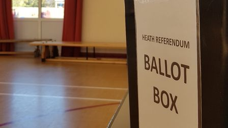 Real ballot boxes were used to help children learn about politics Picture: RACHEL EDGE