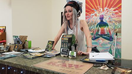 Jessie Carter from Green Man Compassion cannabis lounge Picture: ADAM HOWLETT