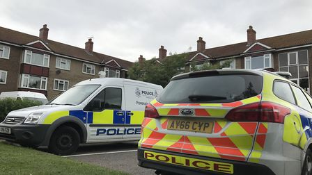 Police have been searching a property near Foxhall Road in connection with the murder of Joe Pooley,