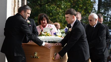 The funeral of Bob Shelley was held at St Mary's Church Picture: SARAH LUCY BROWN