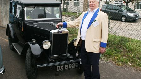 Eric Mouser with his 1930 Morris Minor. Picture: PAUL GEATER