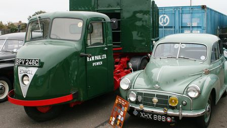 Newly-restored Scamell lorry at the Ipswich Transport Museum. Picture: PAUL GEATER