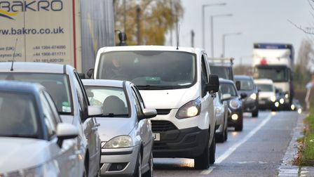 Ipswich traffic (stock image) Picture: SARAH LUCY BROWN