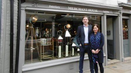 Culinary Concepts at The House In Town, in St Peter's Street. John Manning and Joanna Brady outside