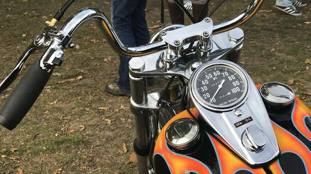 Classic motorcycles on display at the Copdock Motorcycle Show in Trinity Park, Ipswich Picture: Vict