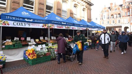 Ipswich market has moved to Princes Street - the public now wants it to stay there. Picture: GREGG B