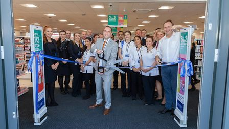 The Boots team cutting the ribbon Picture: IAN WILSON