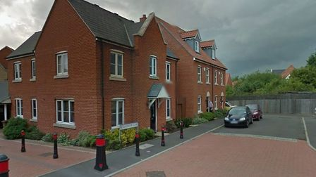 The fire was reported at Bayswater Close Picture: GOOGLE