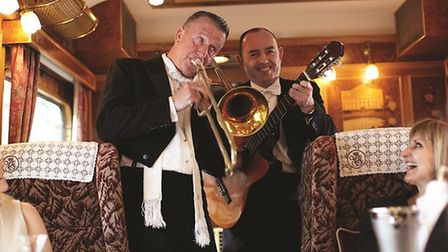 Musicians aboard the Northern Belle. Pictures: NORTHERN BELLE