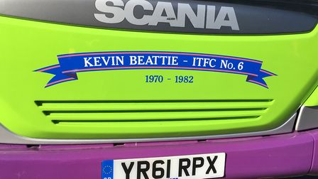 Ipswich Buses have named a vehicle after Kevin Beattie. Picture: PAUL GEATER