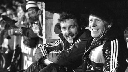 All smiles from Kevin Beattie at his Testimonial match at Portman Road in 1982.