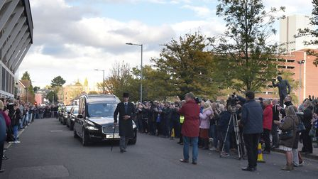 Hundreds of fans lined the streets and applauded their hero as the funeral procession came through I