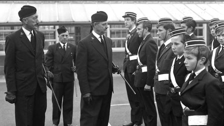 An inspection for the Boys Brigade members in Ipswich during their Sunday morning parade in October