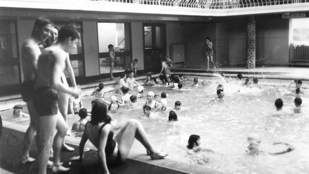 Swimmers at St Matthews Baths, Ipswich, in the 1960s. Picture: IAN MCGRATH
