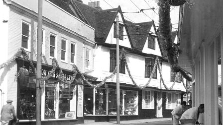 Fore Street, Ipswich, in 1961, with Cox's motor cycle business on the left. Reader Bernard Baker had
