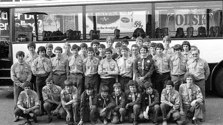 In July 1979 this group were setting off from Ipswich to an international camp Picture: DAVID KIND