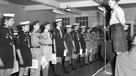 The Chief Scout came to Ipswich in April 1964 to open new Scout Headquarters in Arcade Street Pict