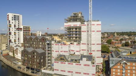 Work to complete the Winerack development in Ipswich is proceeding well, as seen in this drone image