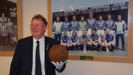 The historic First World War football will be displayed at Portman Road. Picture: IPSWICH TOWN FOOTB
