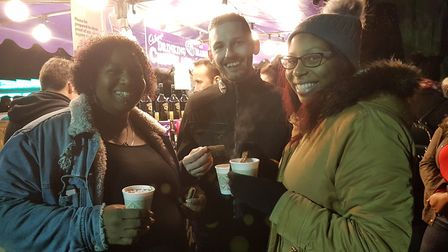 Hot drinks were top of the menu on a cold evening in Ipswich. Picture: RACHEL EDGE