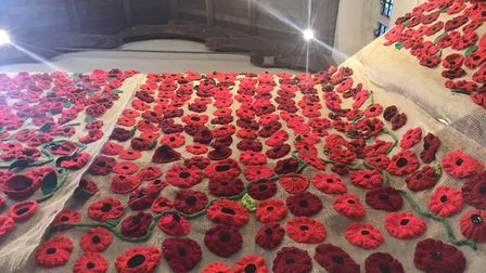 Thousands of poppies have been unveiled at Quay Place in Ipswich Picture: ELLA WILKINSON