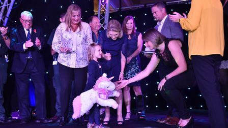 The winners of the special achievement award winners appeared on satge with Annabel Brightwell at th